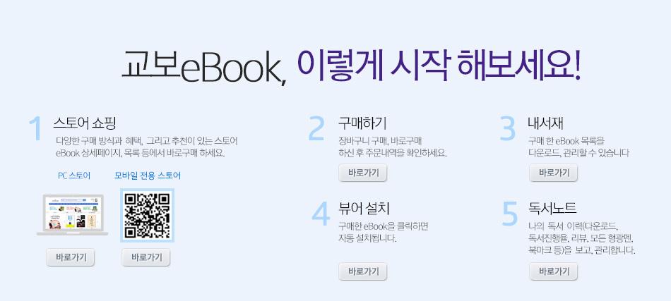 교보eBook, 이렇게 시작해보세요!