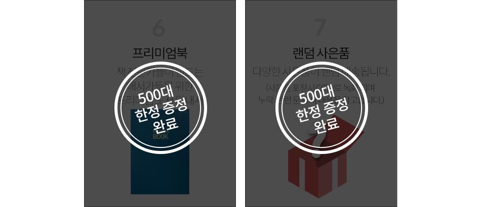 4. 북모닝 오리진 1개월 이용권 5. 강연 초청 우대 6.프리미엄북 7. 랜덤 사은품