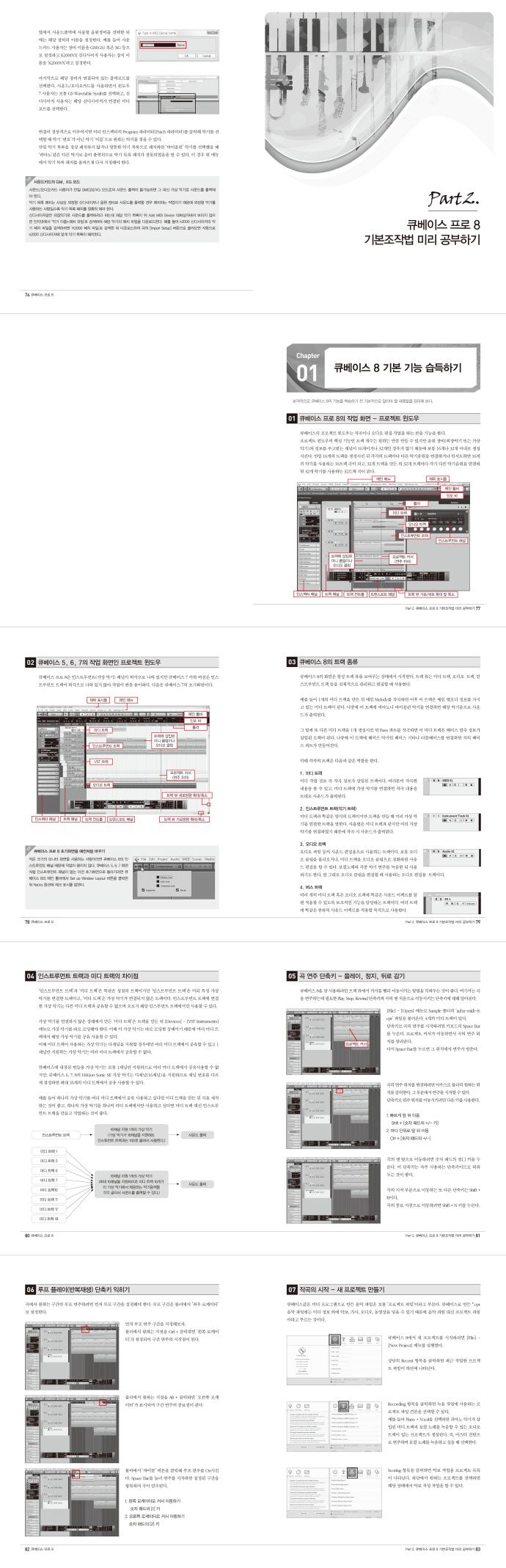 큐베이스 프로 8(CD1장포함) 도서 상세이미지