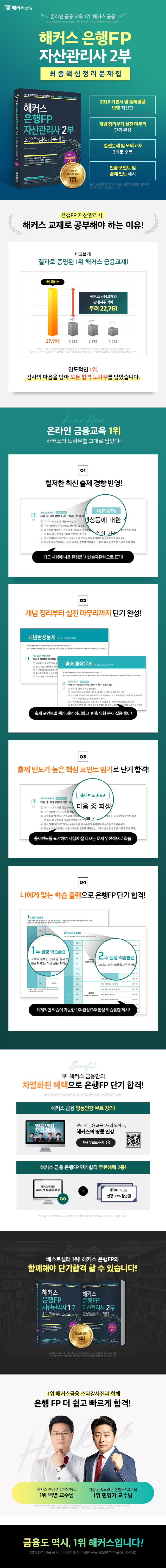 해커스 은행FP 자산관리사 2부 최종핵심정리문제집(2018) 도서 상세이미지