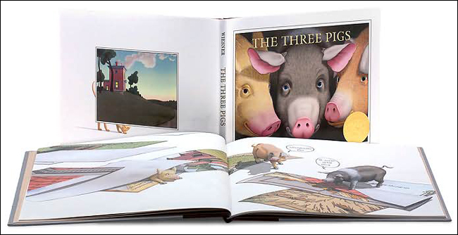 Three Pigs (2002 Caldecott Medal Winner) 도서 상세이미지
