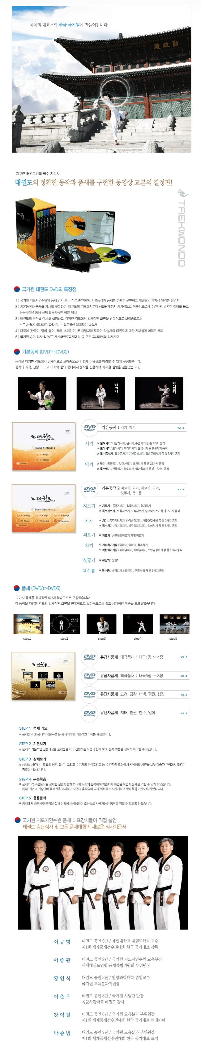 태권도(DVD 6장)(전6권) 도서 상세이미지