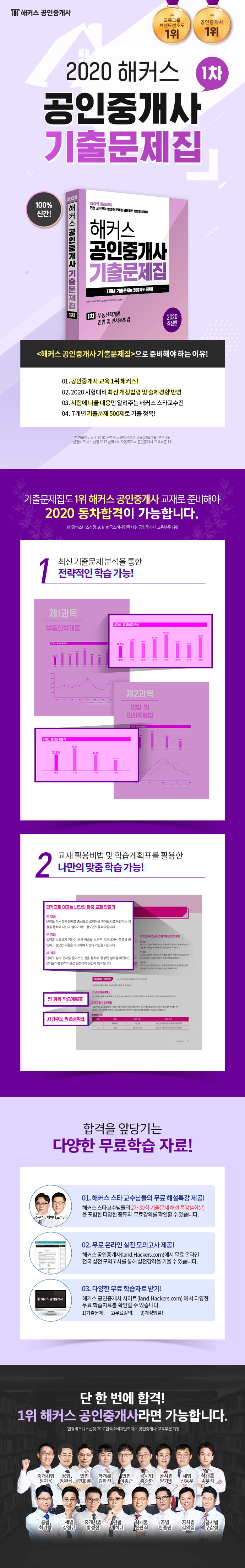공인중개사 1차 기출문제집(2020)(해커스) 도서 상세이미지
