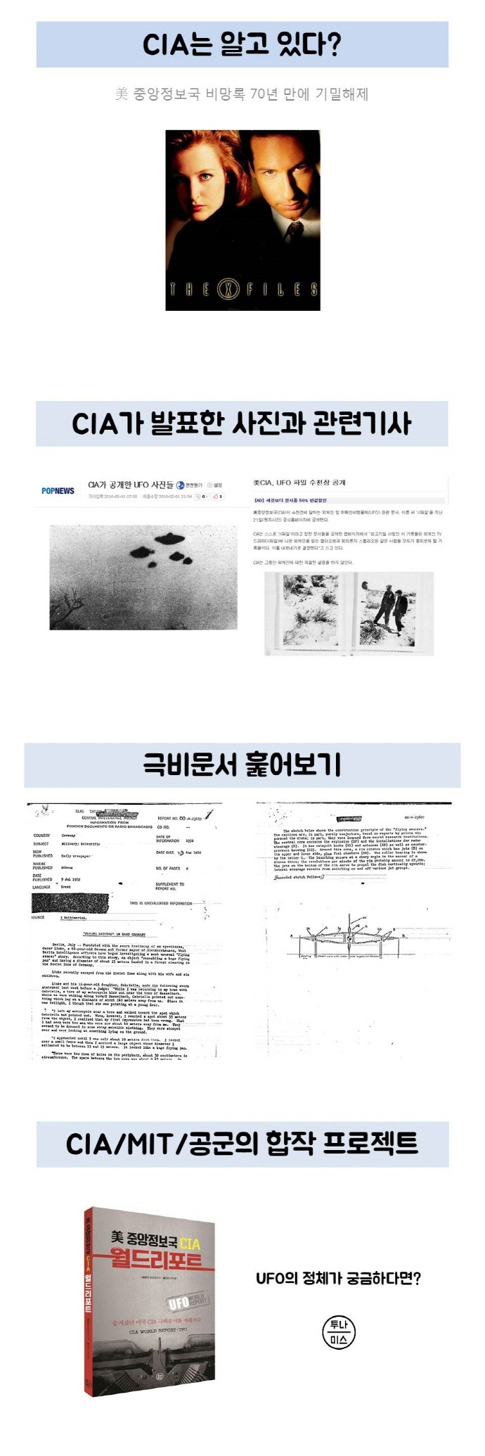 미 중앙정보국 CIA 월드리포트: UFO 도서 상세이미지