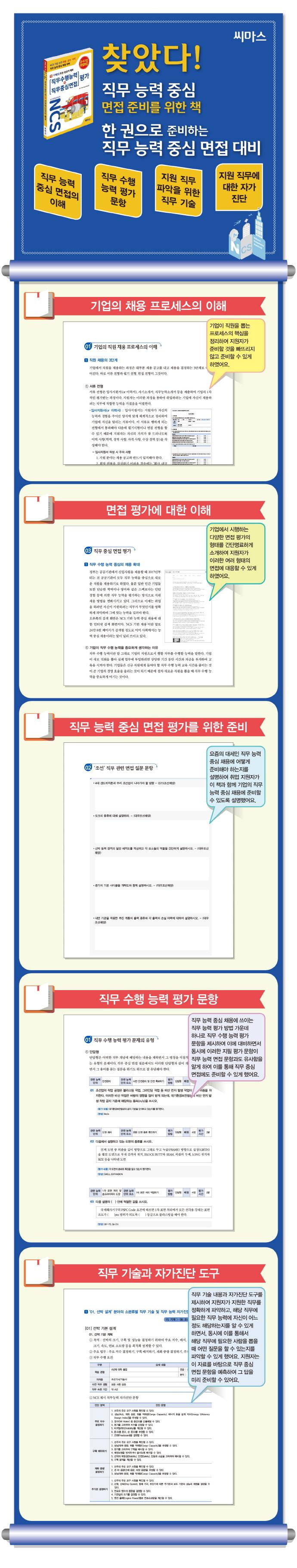 NCS 기반 직무수행능력+직무중심면접 평가. 15: 기계(3) 조선 항공기 제작 도서 상세이미지