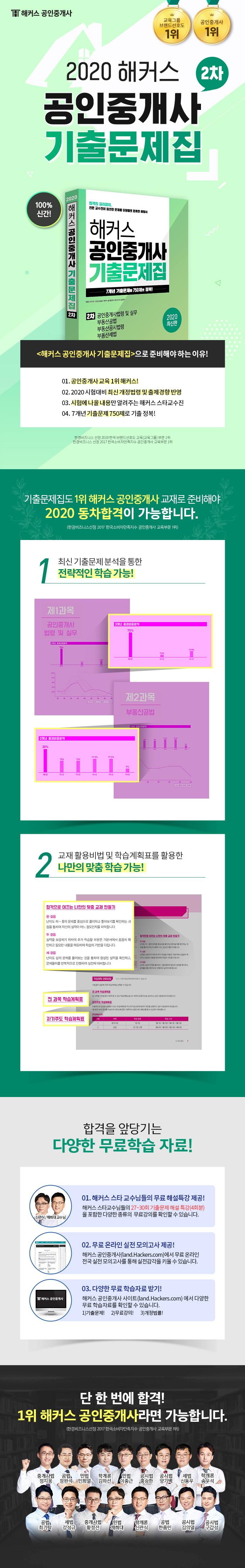 공인중개사 2차 기출문제집(2020)(해커스) 도서 상세이미지