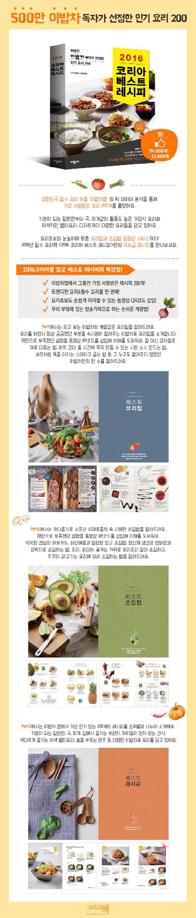 코리아 베스트 레시피(2017) 도서 상세이미지