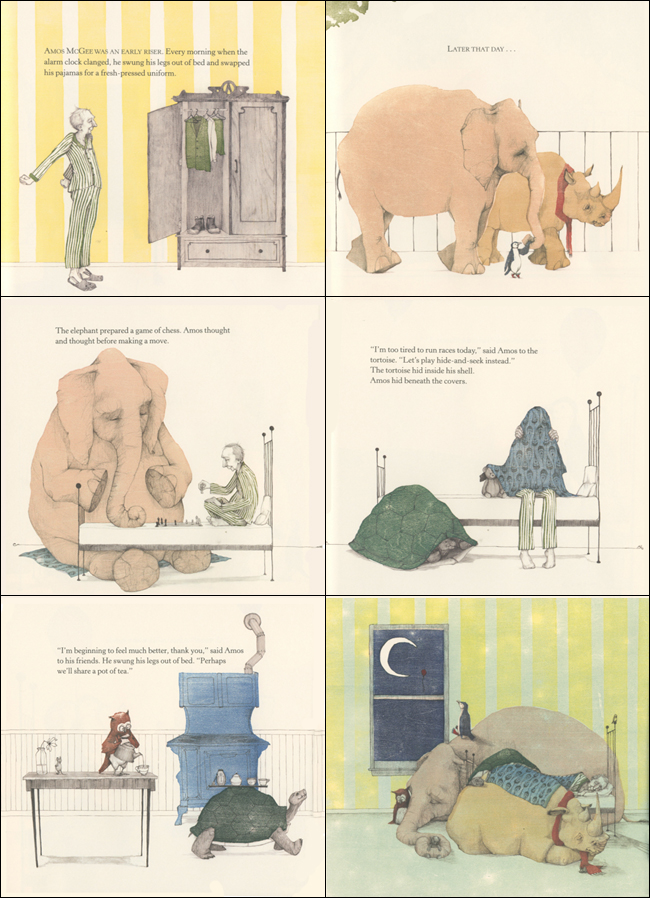 A Sick Day for Amos McGee (2011 Caldecott Medal Winner) 도서 상세이미지