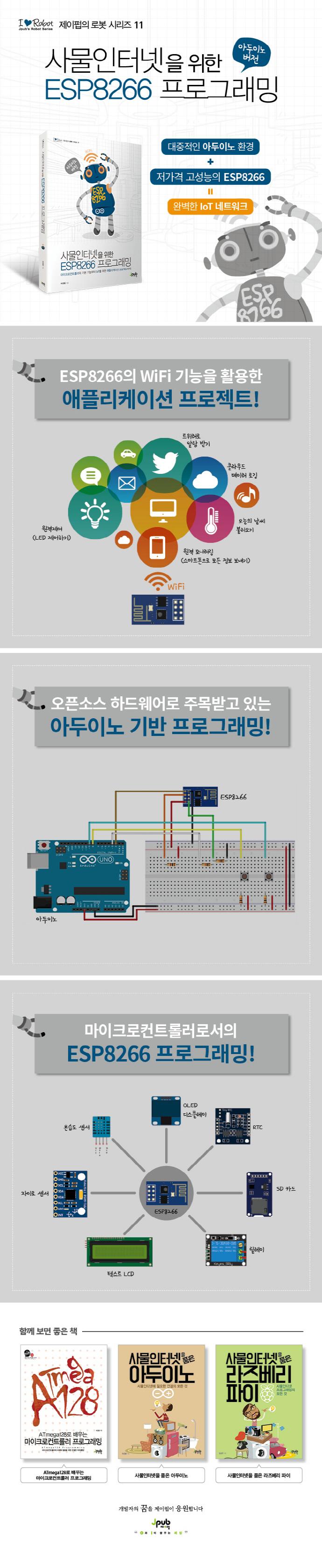 사물인터넷을 위한 ESP8266 프로그래밍(제이펍의 로봇 시리즈 11) 도서 상세이미지