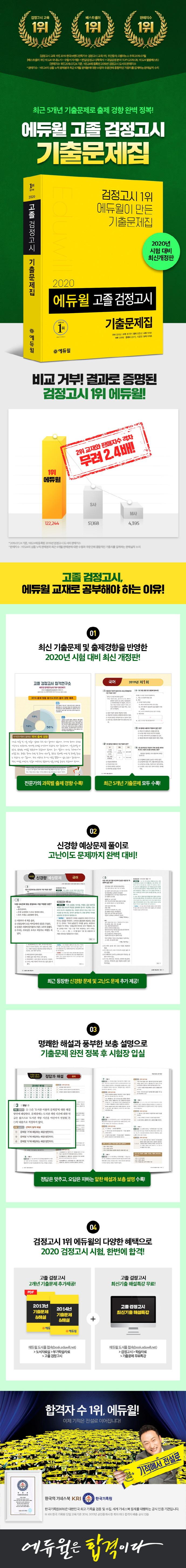 고졸 검정고시 기출문제집(2020)(에듀윌) 도서 상세이미지