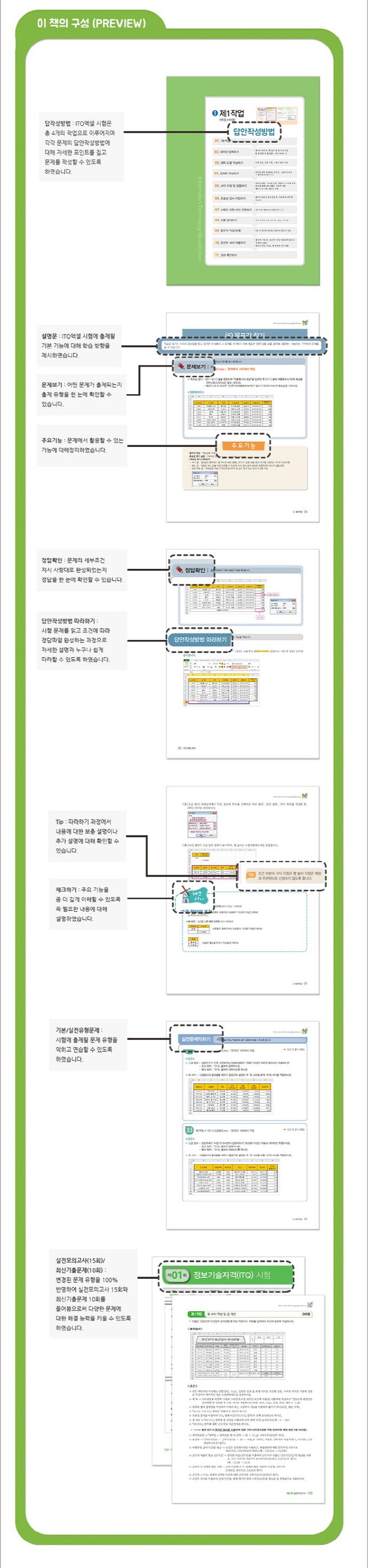 ITQ 엑셀 2010(끝짱)(개정판)(스프링) 도서 상세이미지
