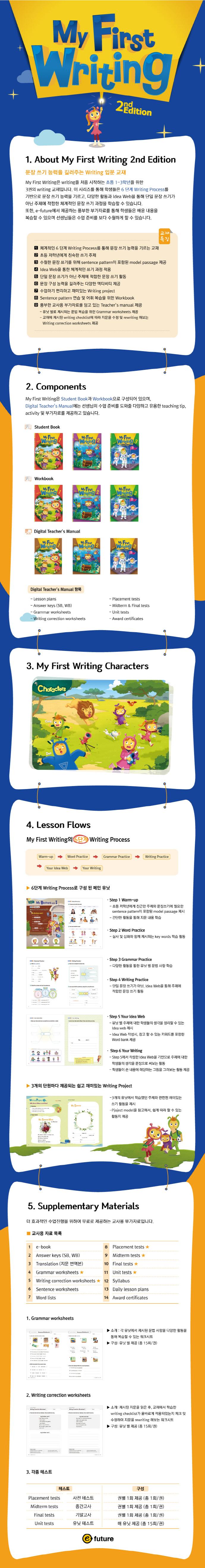 My First Writing. 1(Workbook)(2판) 도서 상세이미지