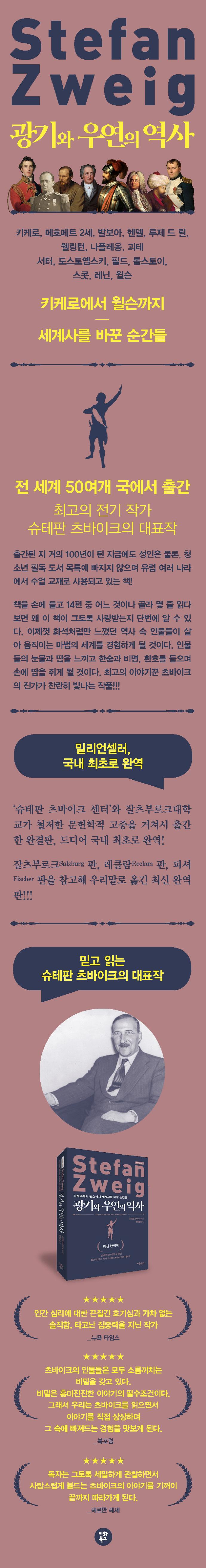 광기와 우연의 역사(최신 완역판)(츠바이크 선집 1) 도서 상세이미지