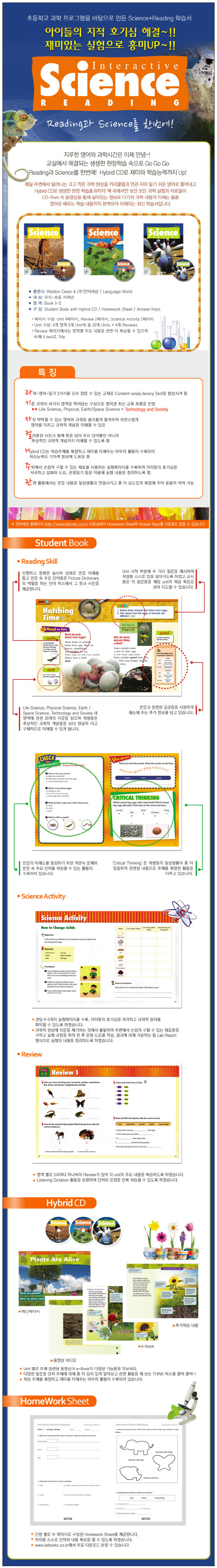 Interactive Science Reading. 1 Student Book(CD2장포함) 도서 상세이미지
