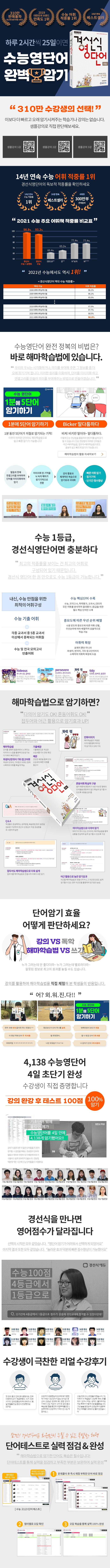 경선식 영단어 초스피드 암기비법(수능)(초스피드암기비법 시리즈) 도서 상세이미지
