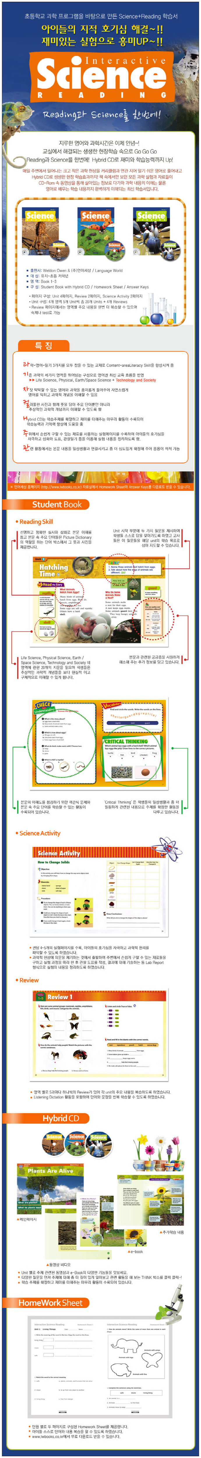 Interactive Science Reading. 2 Student Book(CD2장포함) 도서 상세이미지