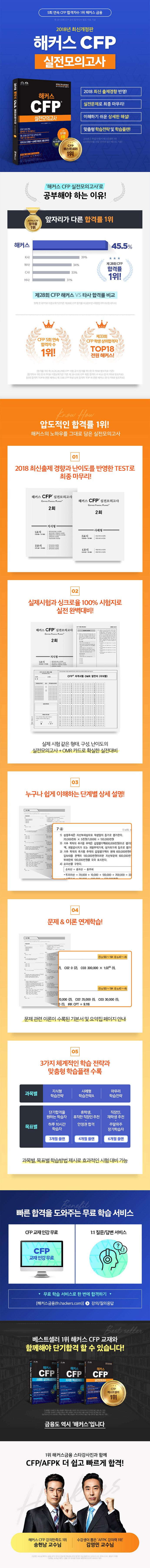 CFP 실전모의고사(2018)(해커스) 도서 상세이미지