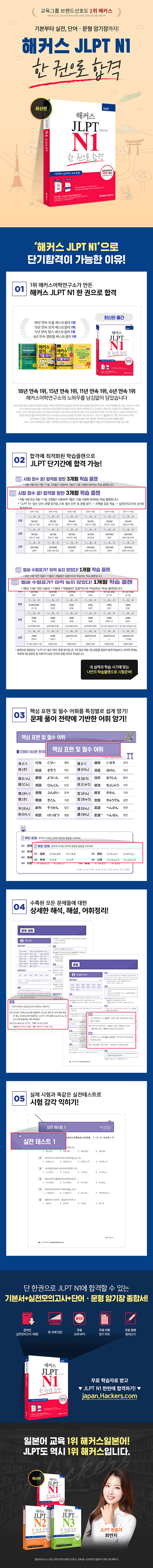 일본어 JLPT N1 한 권으로 합격(해커스) 도서 상세이미지