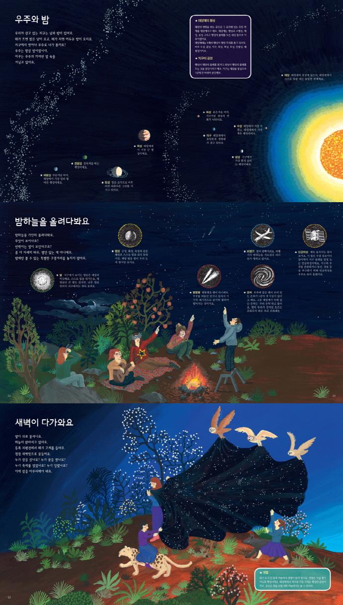 밤의 과학(생각을 더하는 그림책 3)(양장본 HardCover) 도서 상세이미지