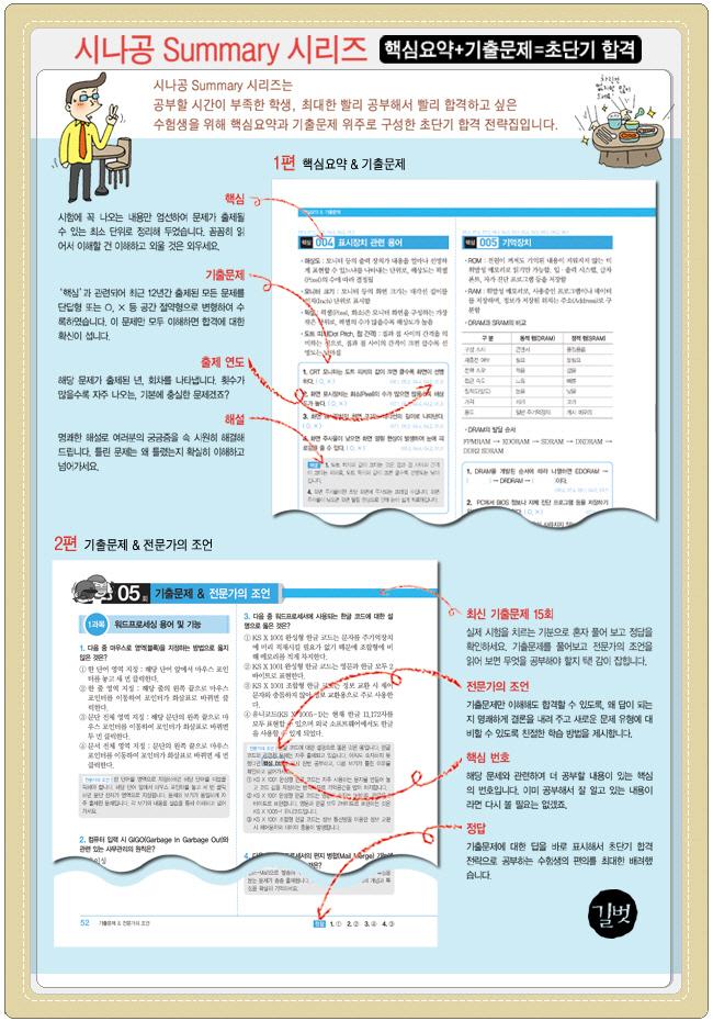 컴퓨터활용능력 1급 필기(2009 시나공 SUMMARY)(시나공 시리즈 27) 도서 상세이미지