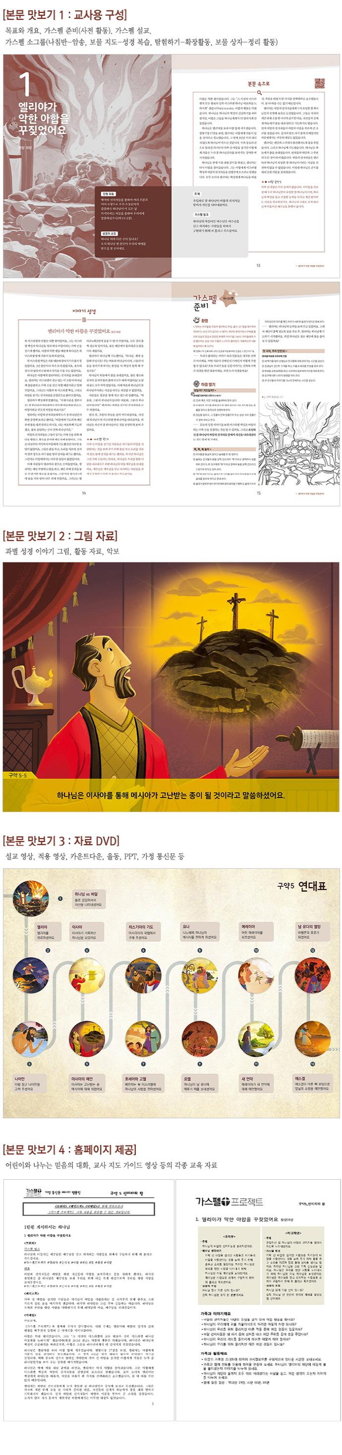 가스펠 프로젝트 구약. 5: 선지자와 왕(저학년 지도자용 팩)(예수님을 만나는)(CD1장포함) 도서 상세이미지