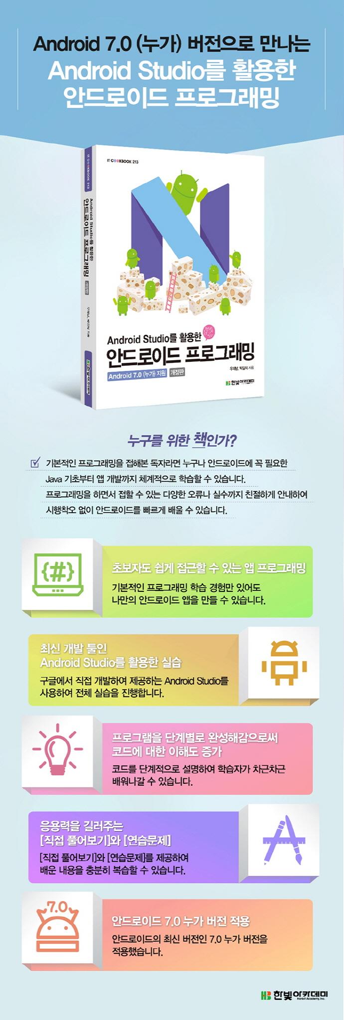 안드로이드 프로그래밍(Android Studio를 활용한)(개정판)(IT Cookbook 213) 도서 상세이미지