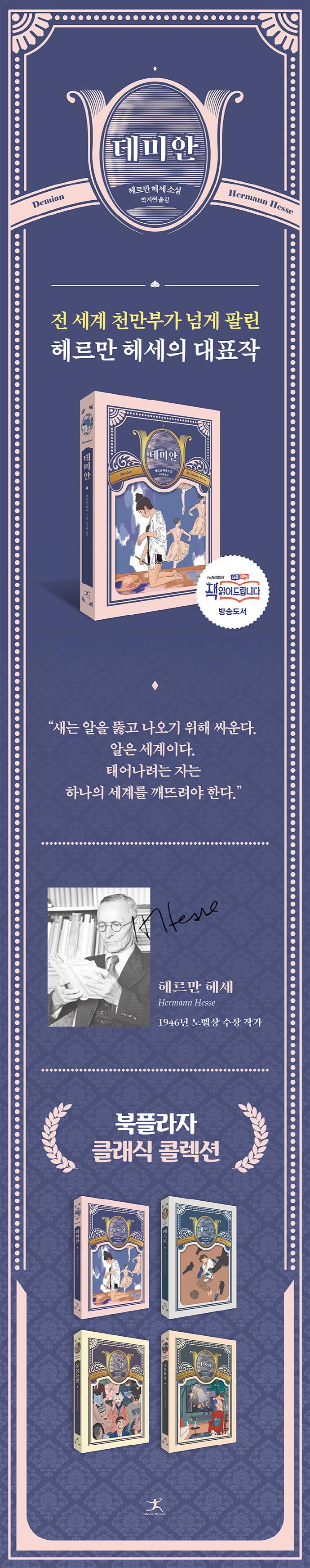 데미안(북플라자 클래식 콜렉션) 도서 상세이미지