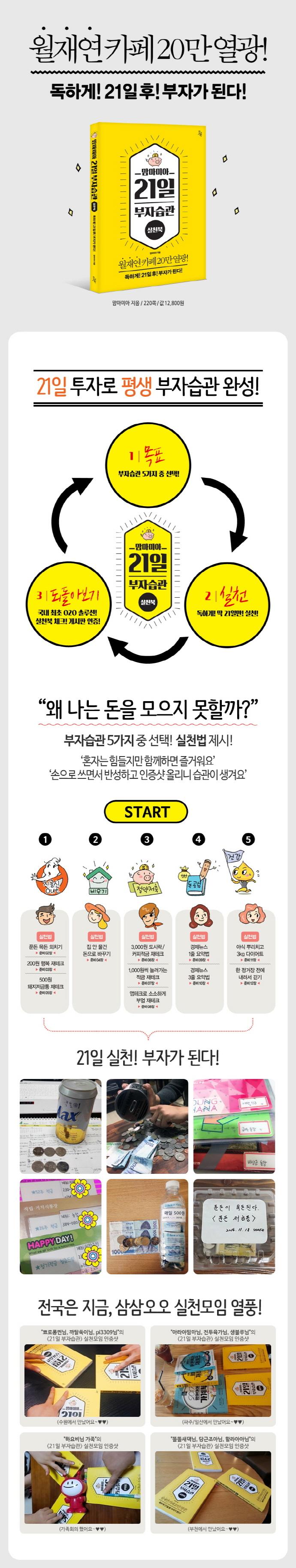 맘마미아 21일 부자습관 실천북 도서 상세이미지