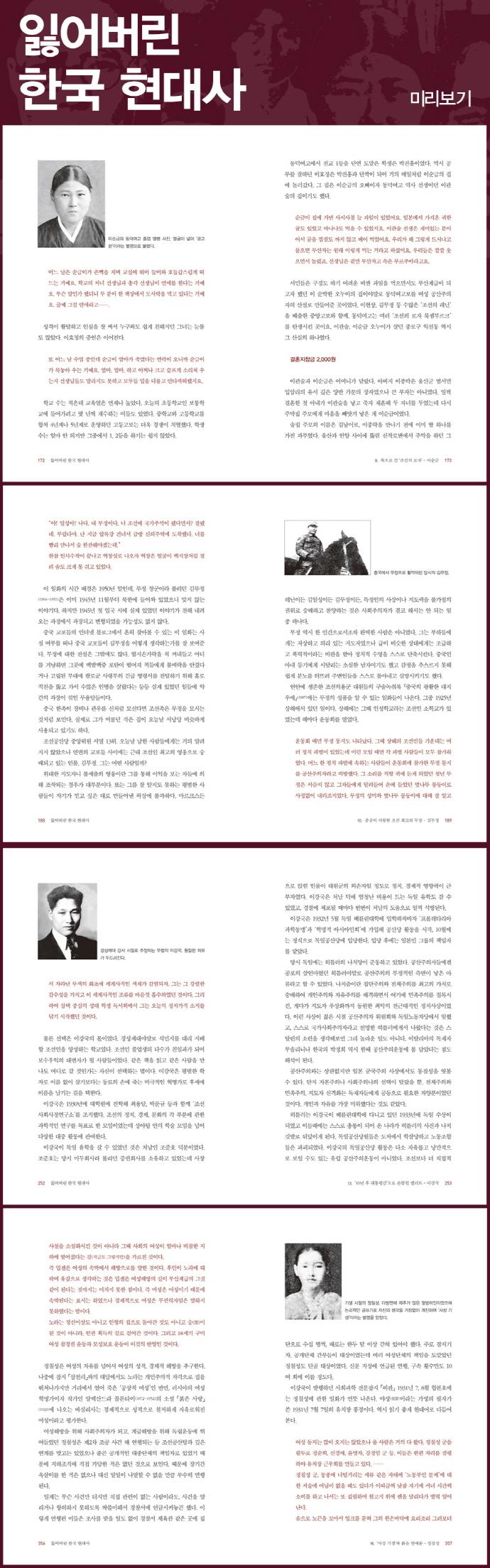 잃어버린 한국 현대사 도서 상세이미지