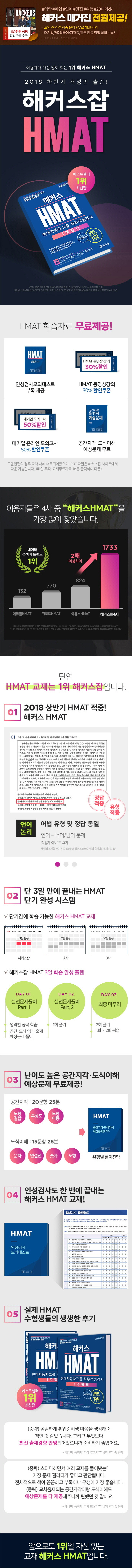 HMAT 현대자동차그룹 직무적성검사 1주합격(2018 하반기)(해커스) 도서 상세이미지