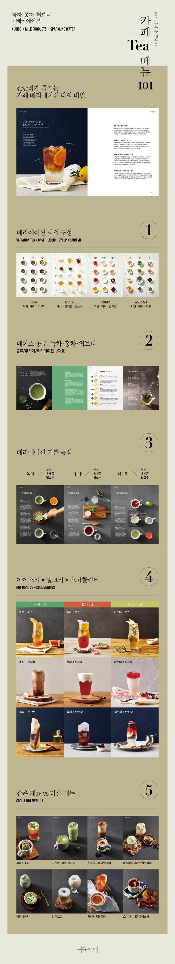 카페 티 메뉴 101(돈 주고도 못 배우는) 도서 상세이미지