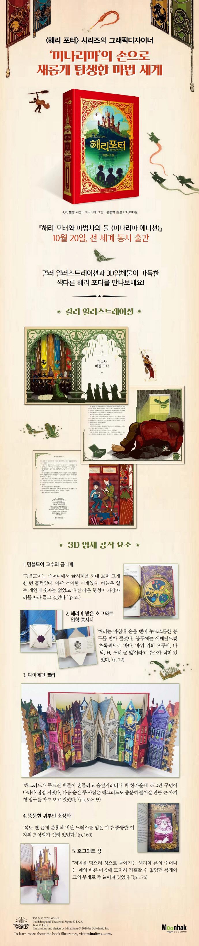 해리 포터와 마법사의 돌(미나리마 에디션)(양장본 HardCover) 도서 상세이미지
