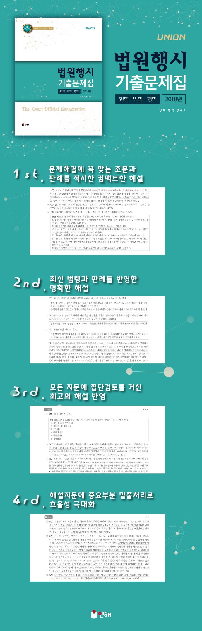 법원행시 제1차 기출문제집(2019)(UNION) 도서 상세이미지