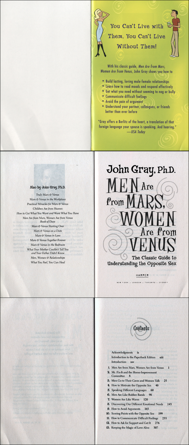 Men Are from Mars, Women Are from Venus 도서 상세이미지