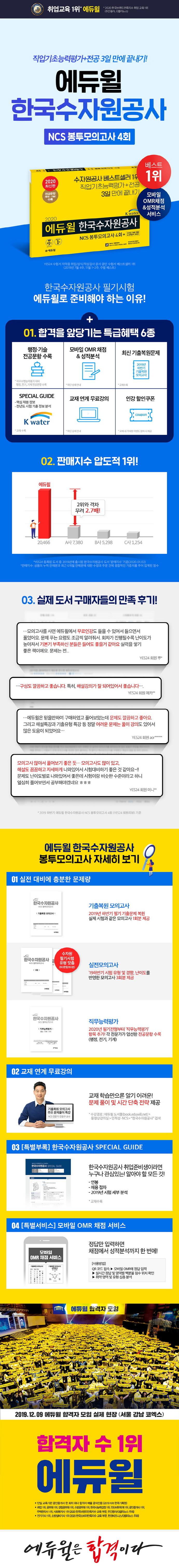 한국수자원공사 NCS 봉투모의고사(4회)(2020)(에듀윌) 도서 상세이미지