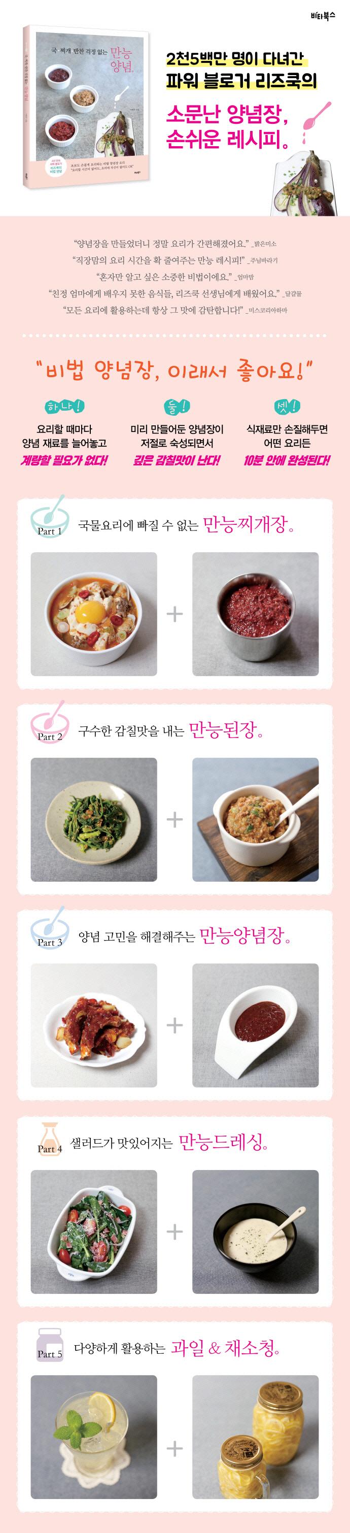 만능양념(국 찌개 반찬 걱정 없는) 도서 상세이미지