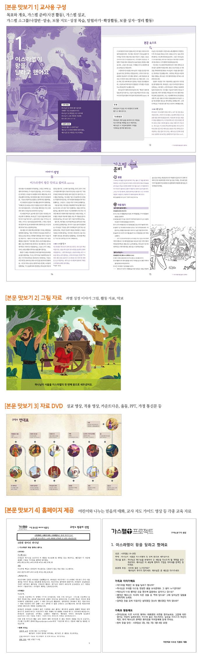 예수님을 만나는 가스펠 프로젝트 구약. 4: 왕국의 성립(저학년 지도자용 팩)(가스펠 프로젝트)(스프링) 도서 상세이미지