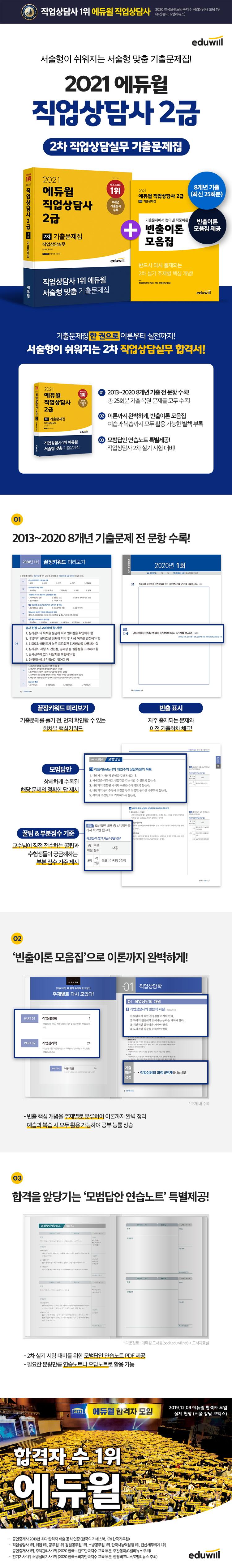 직업상담사 2급 2차 기출문제집(직업상담실무)(2021)(에듀윌) 도서 상세이미지