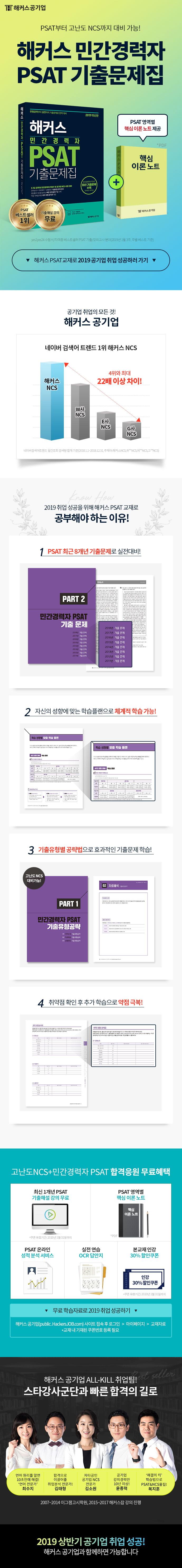 민간경력자 PSAT 기출문제집(2019)(해커스) 도서 상세이미지