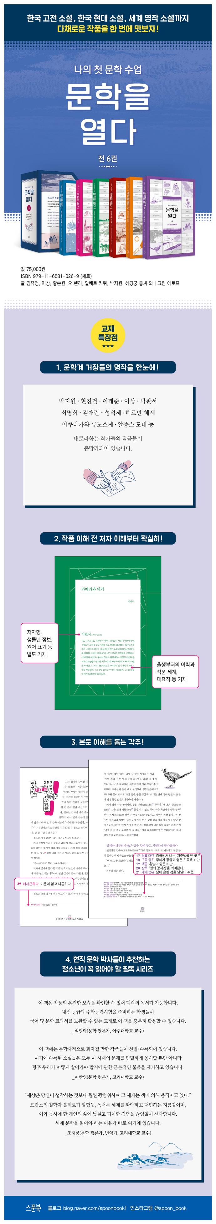 문학을 열다 세트(전6권) 도서 상세이미지