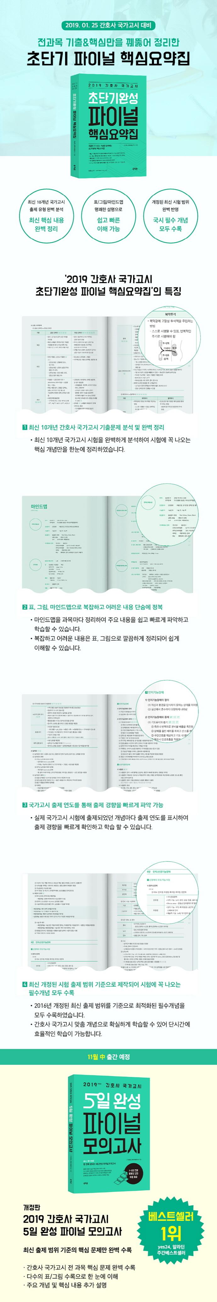 간호사 국가고시 초단기완성 파이널 핵심요약집(2019) 도서 상세이미지