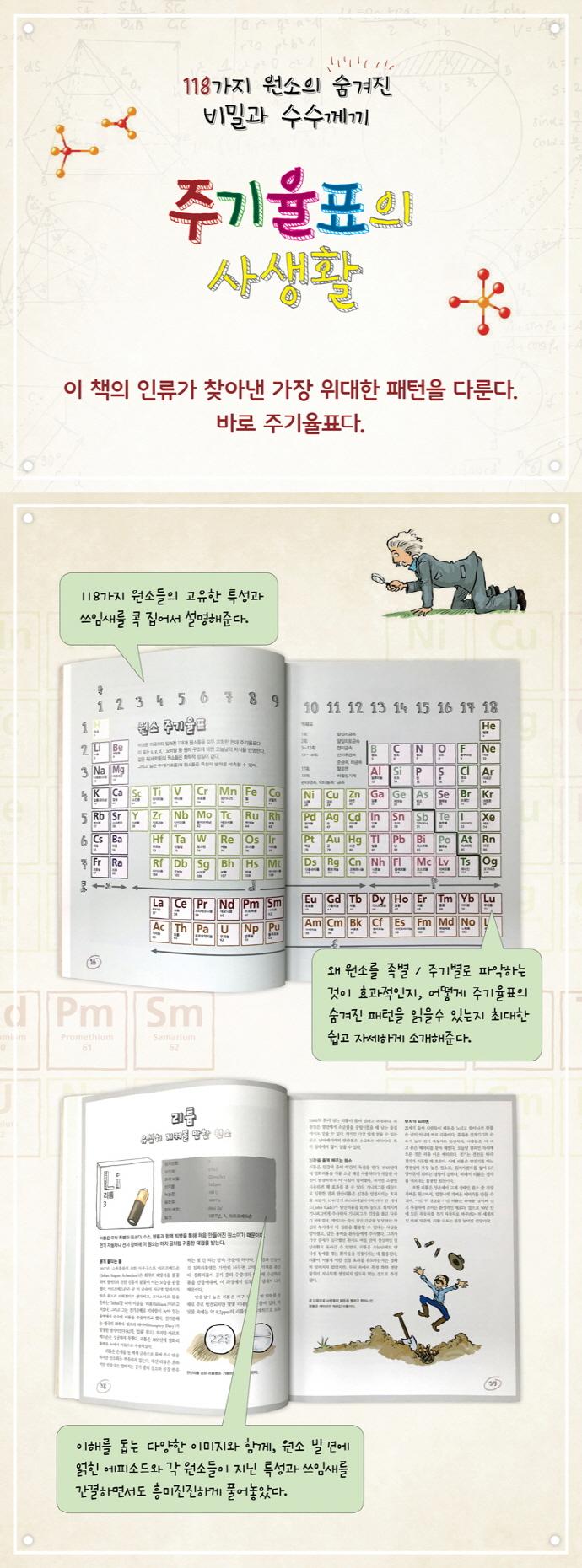 주기율표의 사생활(양장본 HardCover) 도서 상세이미지