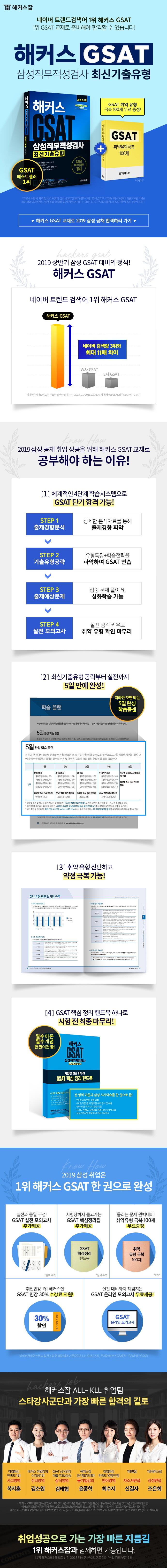 GSAT 삼성직무적성검사 최신기출유형(2019)(해커스) 도서 상세이미지