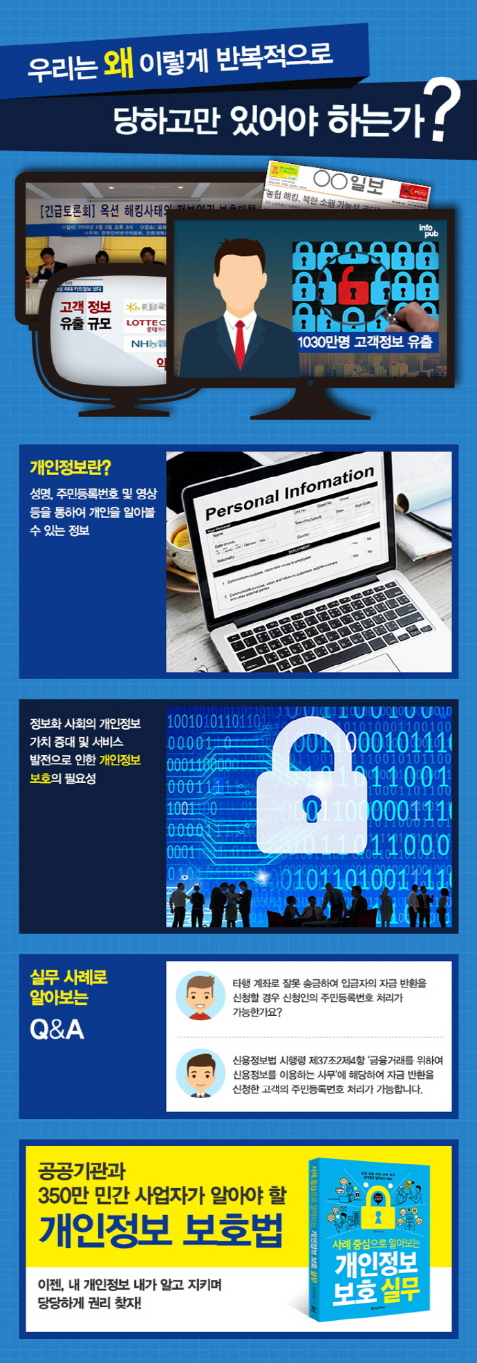 개인정보 보호 실무: 개인정보 보호법 편(사례 중심으로 알아보는) 도서 상세이미지
