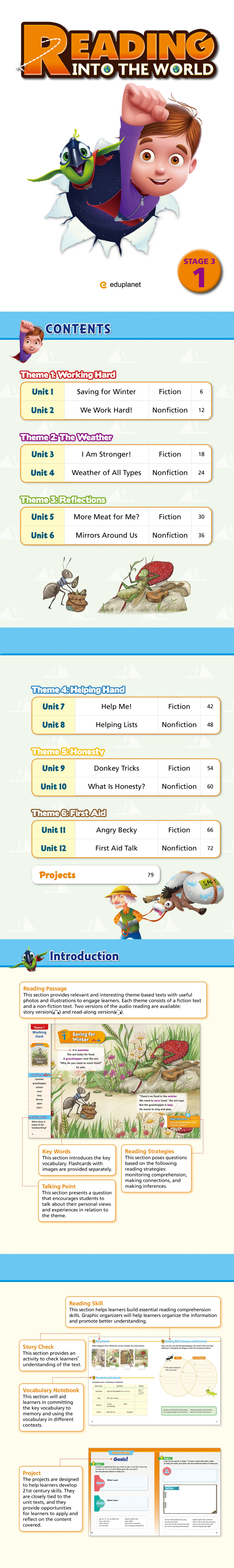 Reading Into the World Stage 3-1(Student Book + Workbook) 도서 상세이미지