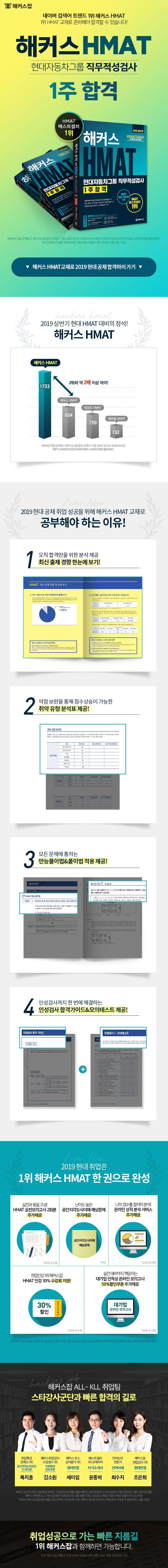 HMAT 현대자동차그룹 직무적성검사 1주합격(2019)(해커스) 도서 상세이미지