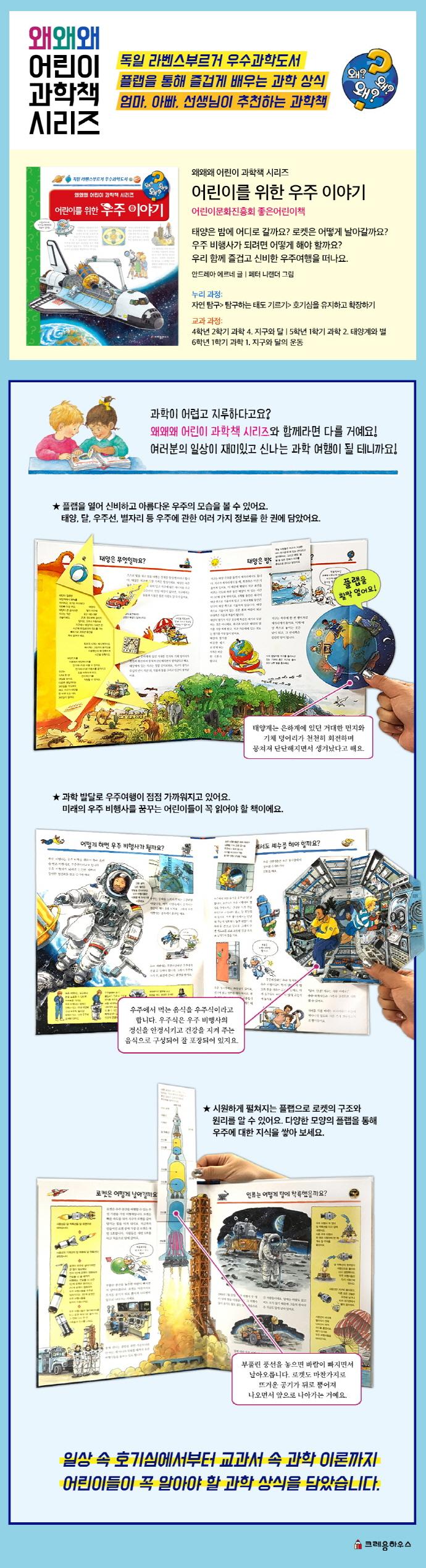 어린이를 위한 우주 이야기(개정판)(왜왜왜 어린이 과학책 시리즈 13) 도서 상세이미지