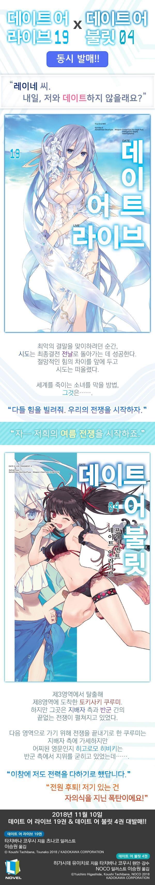 데이트 어 라이브. 19(L노벨(L Novel)) 도서 상세이미지