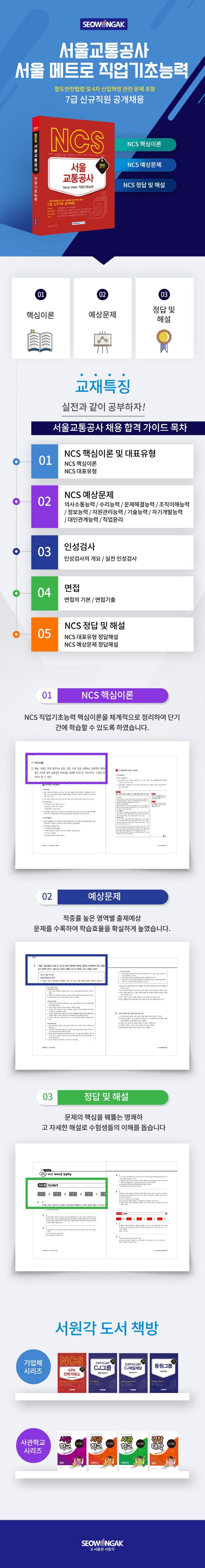 서울교통공사(Seoul Metro) 직업기초능력(2020)(NCS) 도서 상세이미지