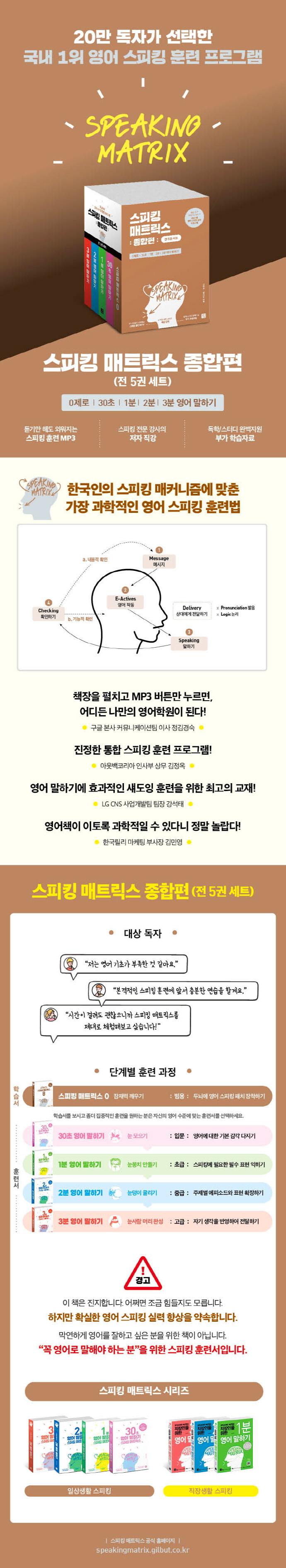 스피킹 매트릭스 종합편 세트(전5권) 도서 상세이미지